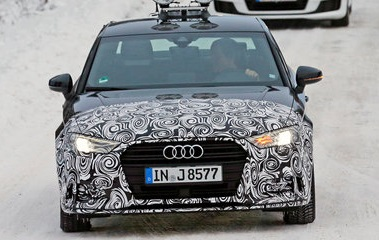 2016 Audi A3 hatchback facelift spy photos